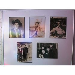 LEGENDS FRAMED PHOTOS - RONALD REGAN, JAMES DEAN, CLARK GABLE, HONEYMOONERS, THE BEATLES, I LOVE LUC