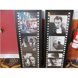 FRAMED REEL PRINTS - HUMPHREY BOOGART/RAT PACK/ GOD FATHER AND JAMES DEAN/MARILYN MONROE/CLINT EASTW