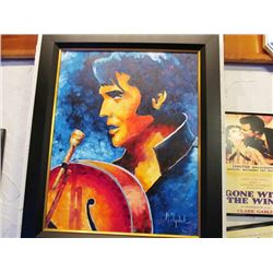 ORIGINAL HAND PAINTED PICTURE - ELVIS BY MAKSYM OSYCHUK