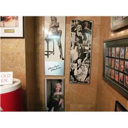 3 FRAMED PRINTS - MARILYN MONROE