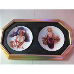 FRAMED MARILYN MONROE COLLECTOR PLATES - FOR OUR BOYS IN KOREA, PHOTO OPPORTUNITY