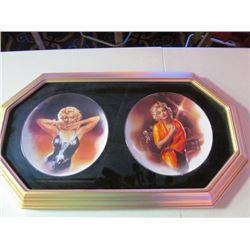 2 FRAMED COLLECTOR PLATES - MARILYN MONROE