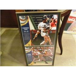 2 FRAMED MLB POSTERS FEATURING ROBINSON CANO, JORGE POSADA AND GARY CARTER