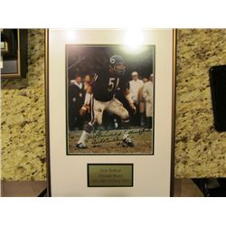 SIGNED FRAMED NFL PICUTRE FEATURING DICK BUTKUS(CHICAGO BEARS), HALL OF FAME 1979