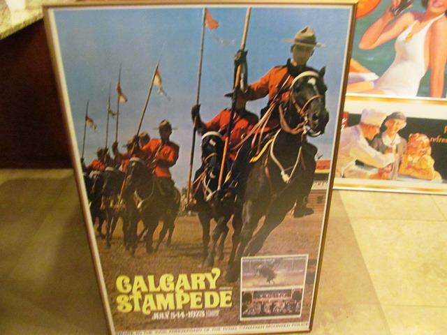 Framed Calgary Stampede Poster 1973 The Electric Garage