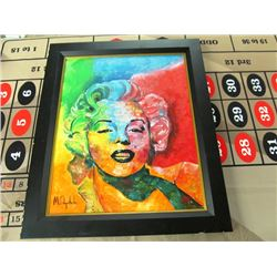 MARILYN MONROE ORIGINAL OIL PAINTING BY M OSYPCHUK