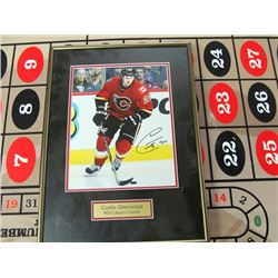 CURTIS GLENCROSS SIGNED FLAMES PICTURE