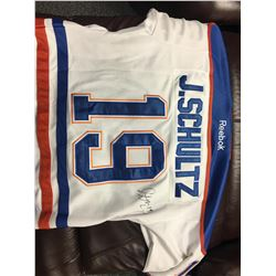 AUTOGRAPHED OILERS JERSEY - SCHULTZ