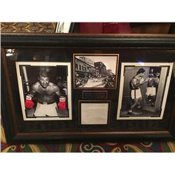 FRAMED ROCKY MARCIANO PICTURES AND SIGNED LETTER