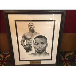 FRAMED MIKE TYSON PRINT