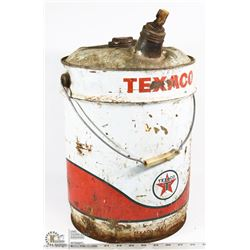 COLLECTIBLE TEXACO 5 GALLON OIL PAIL