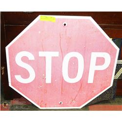 COLLECTIBLE LARGE STOP SIGN 1970s