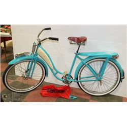 1946 MONARK SUPER DELUXE BALLOON TIRE BIKE PAINTED 1957 CHEVY BLUE