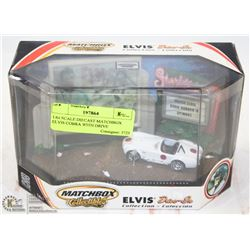 COLLECTIBLE 1:64 SCALE DIECAST MATCHBOX ELVIS COBRA WITH DRIVE IN DIORAMA