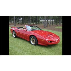 FRIDAY NIGHT 1992 PONTIAC FIREBIRD CONVERTIBLE ONLY 55000 ACTUAL MILES