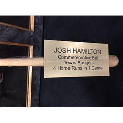 JOSH HAMILTON COMMEMORATIVE BAT TEXAS RANGERS SIGNED