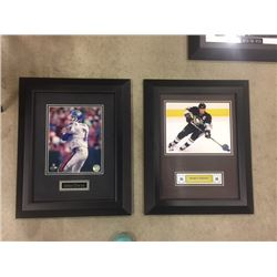 FRAMED PICTURES 3 ITEMS 2 CROSBY 1 JOHN ELWAY