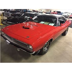 1970 PLYMOUTH CUDA SHAKER HOOD 383 BIG BLOCK