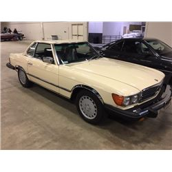 1983 MERCEDES BENZ 380 SL CONVERTIBLE