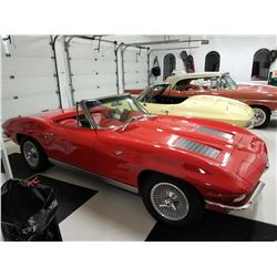 1963 CHEVROLET CORVETTE ROADSTER RED ON RED 4 SPEED FRAME OFF RESTORATION
