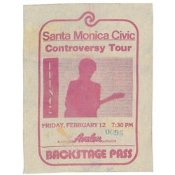 Prince 1982 Controversy Tour Pass