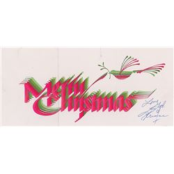 Prince Signed Christmas Card