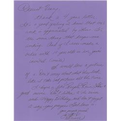 Prince Signed Handwritten Letter