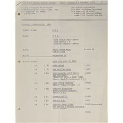 Prince 1985 Grammy Awards Cue Sheet