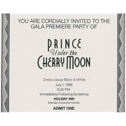 Prince Under the Cherry Moon Invitations