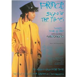 Prince Original Vintage Sign o' the Times Photograph and Leaflet