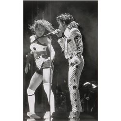 Prince and Cat Glover 1988 Lovesexy Tour Original Vintage Photograph