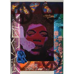 Jimi Hendrix 'Experience This' Screenprint Diptych. Art Made for Glam Slam Night Club