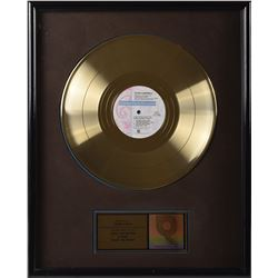 Prince Handwritten Note and Gold Sales Award