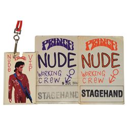 Prince Group of (3) 1990 Nude Tour Passes
