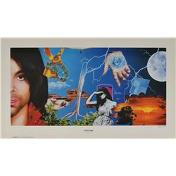 Prince Graffiti Bridge Artist's Proof Print Signed by Steve Parke and World Premiere Invitation