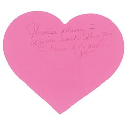 Prince Handwritten Heart Note