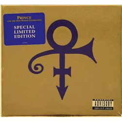 Prince's Personally-Owned Limited Edition Love Symbol CD and Custom-Made Notebook