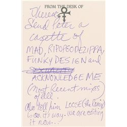 Prince Handwritten Note