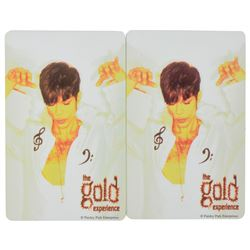 Prince Group of (2) The Gold Experience Phone Cards and (3) Skin Transfers