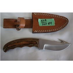 "4"" Hunting Knife w/Gut Hook, Stainless Blade & Composite Handle"