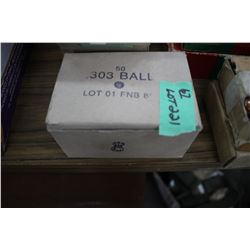 Box of 303 Ball; WWII