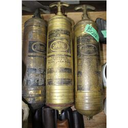 3 Military Jeep Pyrene Fire Extinguishers
