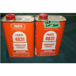2 Full Tins of IMR4831 Smokeless Powder