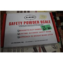 Lee Powder Safety Scale