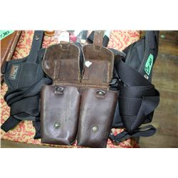 2 Holsters & Leather Clip Holder