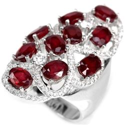 Natural PIGEON BLOOD RED RUBY RING