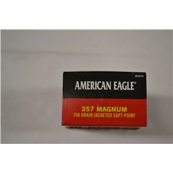 50 ROUNDS AMERICAN EAGLE 357MAG 158 GRAIN JSP