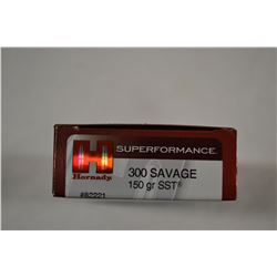 20 ROUNDS HORNADY SUPERFORMANCE 300 SAVAGE 150 GRAIN SST