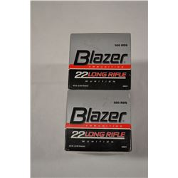 1000 ROUNDS BLAZER BRASS 22LR 40 GRAIN