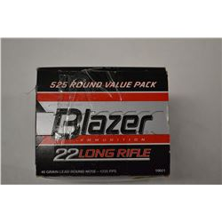 525 ROUNDS BLAZER BRASS 22LR 40 GRAIN
